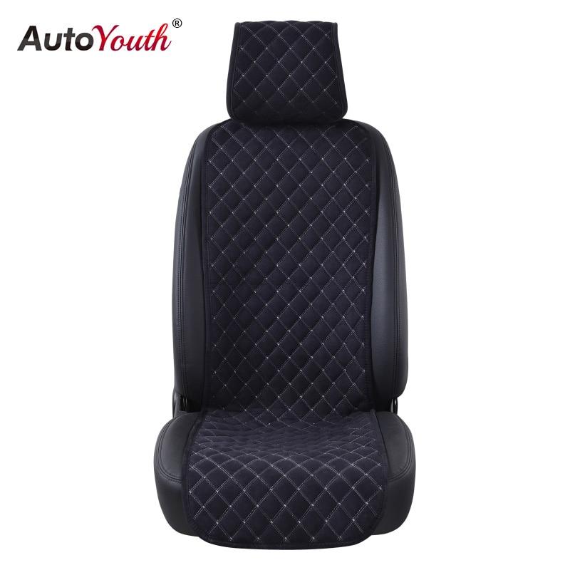 AUTOYOUTH Fashion Car Seat Cushion Universale Nano cotone Panno di velluto Auto sede Della Copertura Adatta Alla Maggior Parte Auto o SUV 4 Colore Car Styling