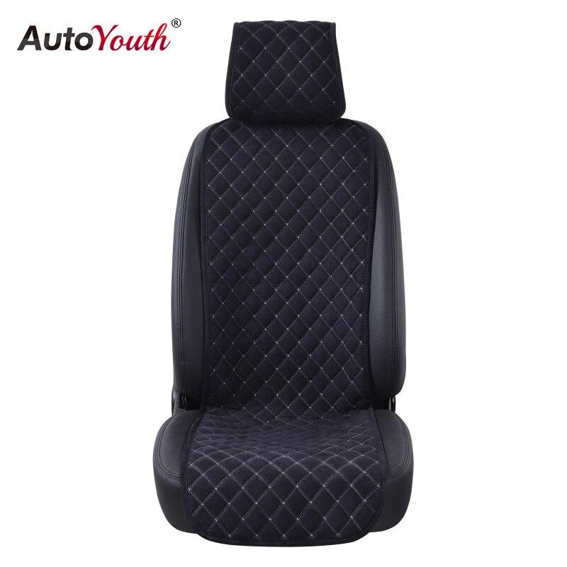 AUTOYOUTH Mode Autositzkissen Universal Nano baumwolle samt Tuch Auto Sitzbezug Passt Die Meisten Auto oder SUV 4 Farbe Auto Styling