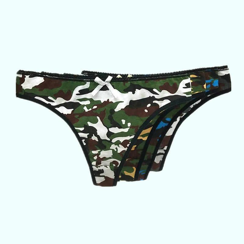 4 unids/lote Sexy G-String algodón mujer Bragas T Back ropa interior sin costura Tanga Bikini cintura baja transparente señora