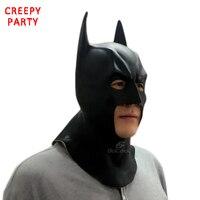 Batman Mask Adult Halloween Mask Realistic Full Face Latex Party Mask Caretas Movie Bruce Wayne Cosplay Props
