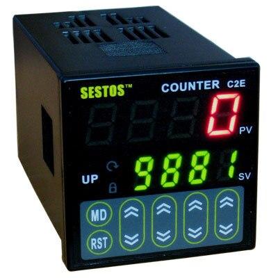 Sestos Digitale Preset Schaal Counter Tact Switch Register 12 24V CE C2S R 24