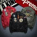 H1323 tendência Da Moda Europeus e Americanos rua jaqueta bomber Primavera & Outono Padrão de Bordado de Alta qualidade homens jaqueta de beisebol