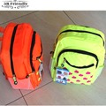 free shipping  new model shinnning color waterproof clothese material school bag grammer middle  schoool backpack