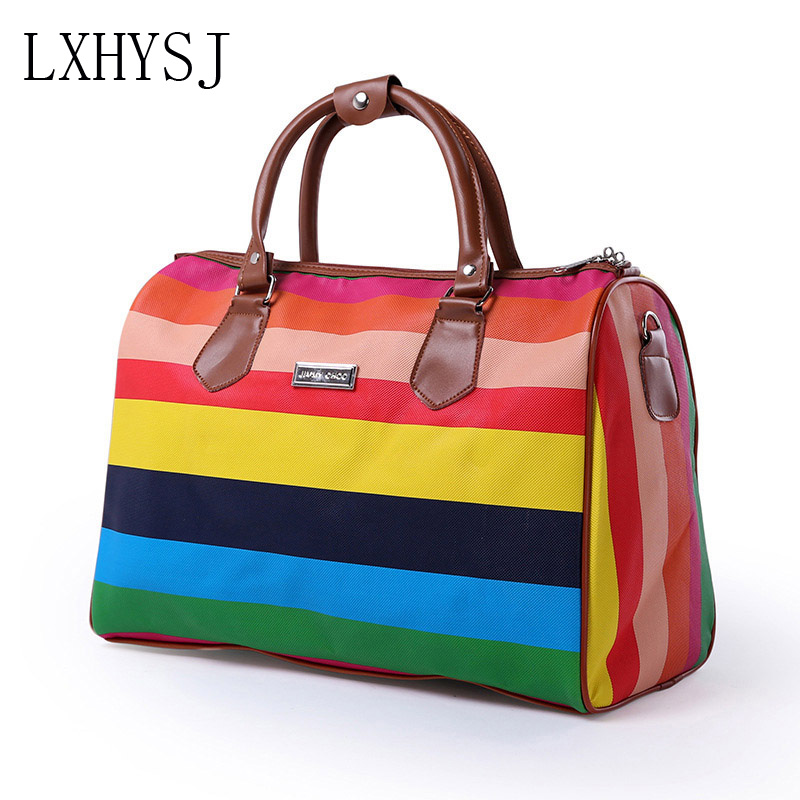 Travel Bag Women's Sport Bags Large Capacity Travel Duffle High Quality Luggage Bag Multifunctional  PU Material Weekend Package