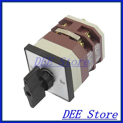 500V 16A 8 Terminals 4 Position Rotary Contarol Cam Universal Combination Switch ith 20a 8 screw terminals rotary combination cam switch