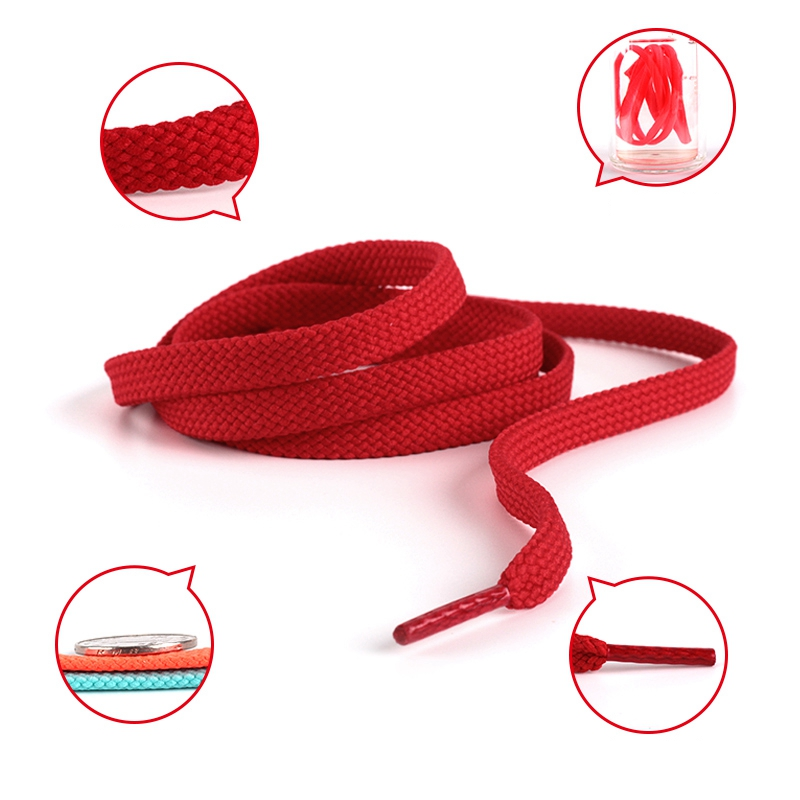 1 Pair Polyester Flat Shoe laces Double Hollow Woven Shoelaces 100CM 120CM 140CM 160CM Thicken Non slip Shoe lace in Shoelaces from Shoes