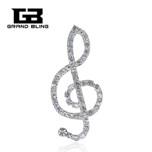 Hand-made Bling Music Theme Brooch Pin