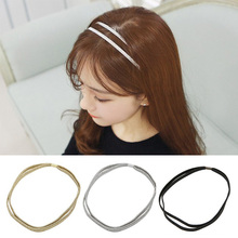 3PCS/Set Elastic Simple Headbands Hot Sale Women Double Sparkling Stretchy Popular Hair Bands Rope Accessories