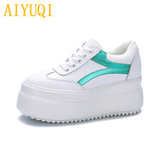 AIYUQI women sneakers shoes 2019 new spring platform casual ladies cutouts lace up