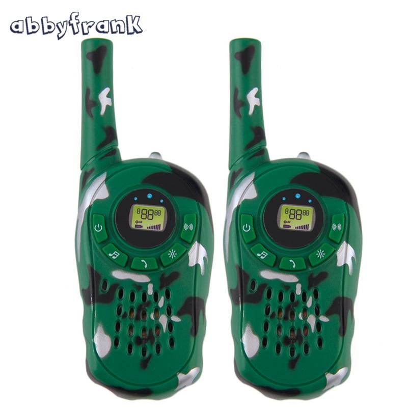 Abbyfrank 2Pcs Walkie Talkie Toy Spy Intercom Gadgets Children Spy Toy Camouflage Electronic Portable Two-Way Radio Interphone