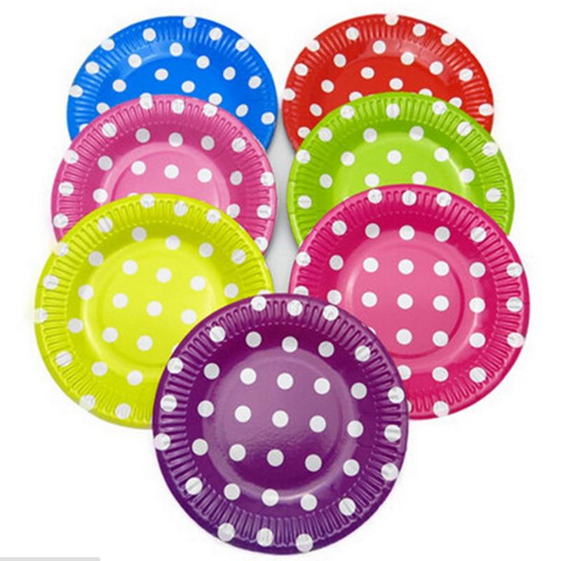 aliexpress com buy polka dots paper plates for wedding birthday