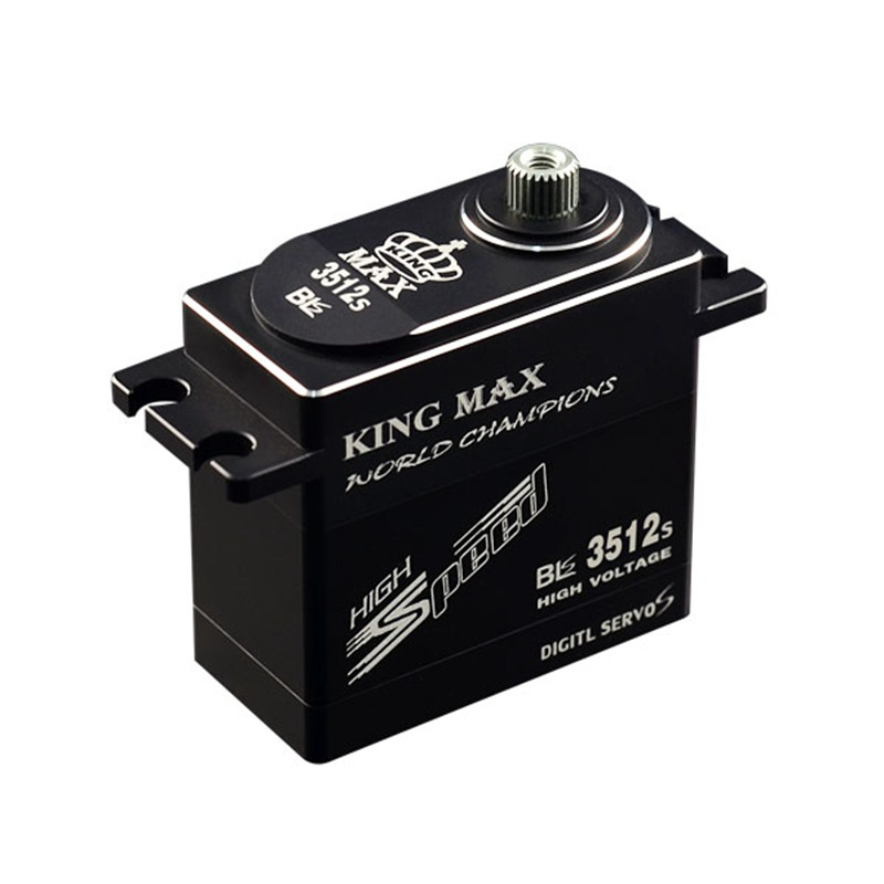 KINGMAX BLS3512S CNC digital HV servo steel gear cnc metal case high voltage 39KG/78g waterproof for RC aicraft cars crawler gas цена