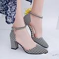 2016 Verano Zapatos de Tacones Altos Bombas de Punta estrecha Mujeres Sexy Señoras de la Oficina de Moda Cuñas Plataforma Zapatos