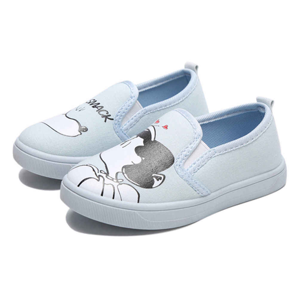 2018 HOT Boys Girls Soft Casual Shoes Infant Kids Flats Princess Lace up Sneakers Toddler Babys Canvas Cute Pattern Shoes