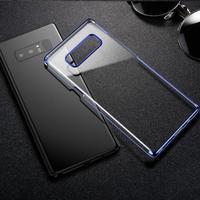 BASEUS Marka ARC Galwanizacja Ciężka PECET Przezroczysty Case Powrót Do Samsung Galaxy Note 8 Glitter Seria Wykwintne Pokrywą Ochronną