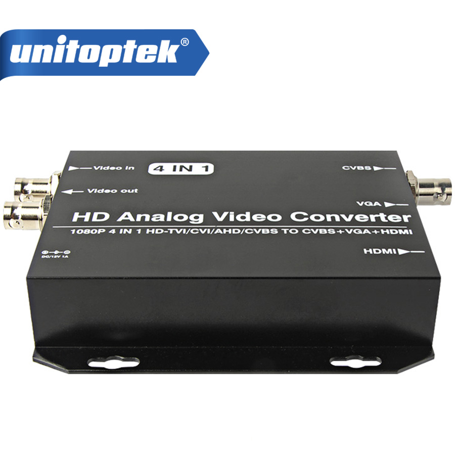 цена на HD AHD CVI TVI CVBS Camera Signal to HDMI/VGA/CVBS Converter Support HDMI+VGA+CVBS(BNC) Output 720P/1080P@25/30Hz HD Video Conve
