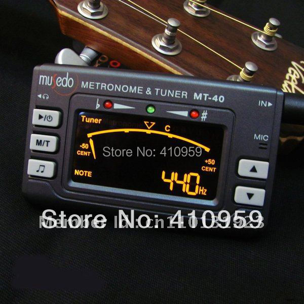 guitar tuner MT-40 Three-in-One metronome & tuner for Guitar, Bass, Violin and Ukelele Universal twelve guitar tuner metronome