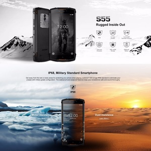 Image 2 - DOOGEE S55 Waterproof Smartphone 4GB RAM 64GB ROM 5500mAh MTK6750T Octa Core 5.5 inch Android 8.0 Dual SIM 13.0MP OTA 4G FDD LTE
