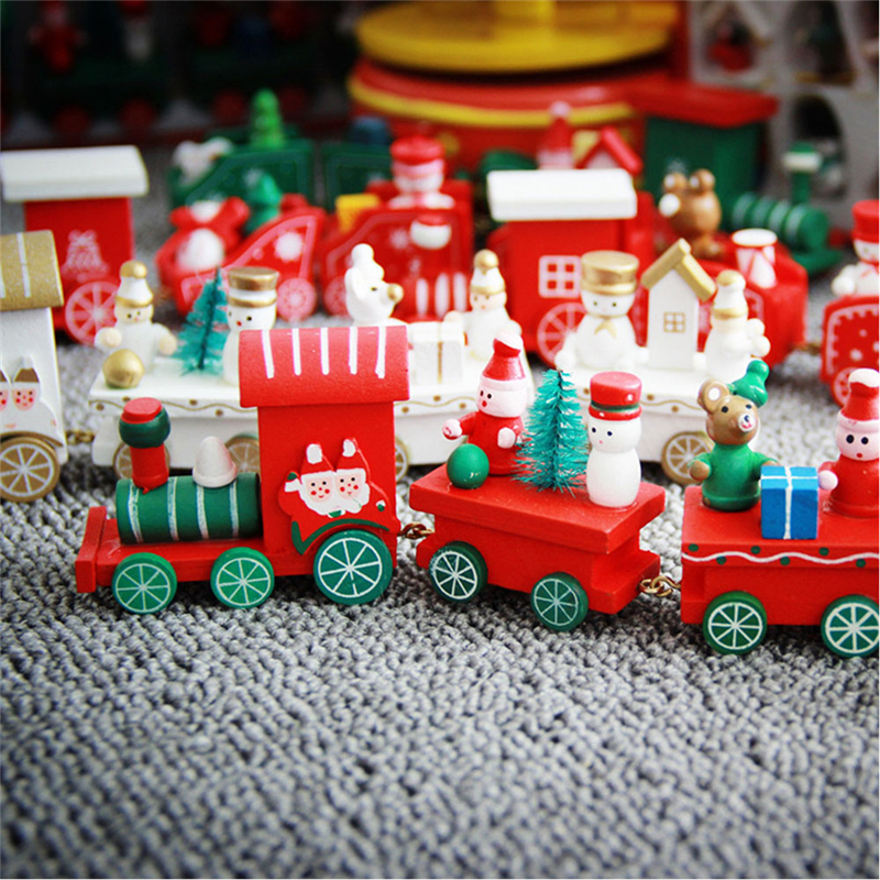Christmas wooden train decoration