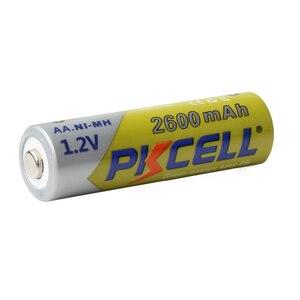 Image 3 - 4Pcs/karte PKCELL AA Batterien 1,2 V NI MH 2600mAh 2A NIMH 1,2 Volt AA Akku Baterias bateria Batterien