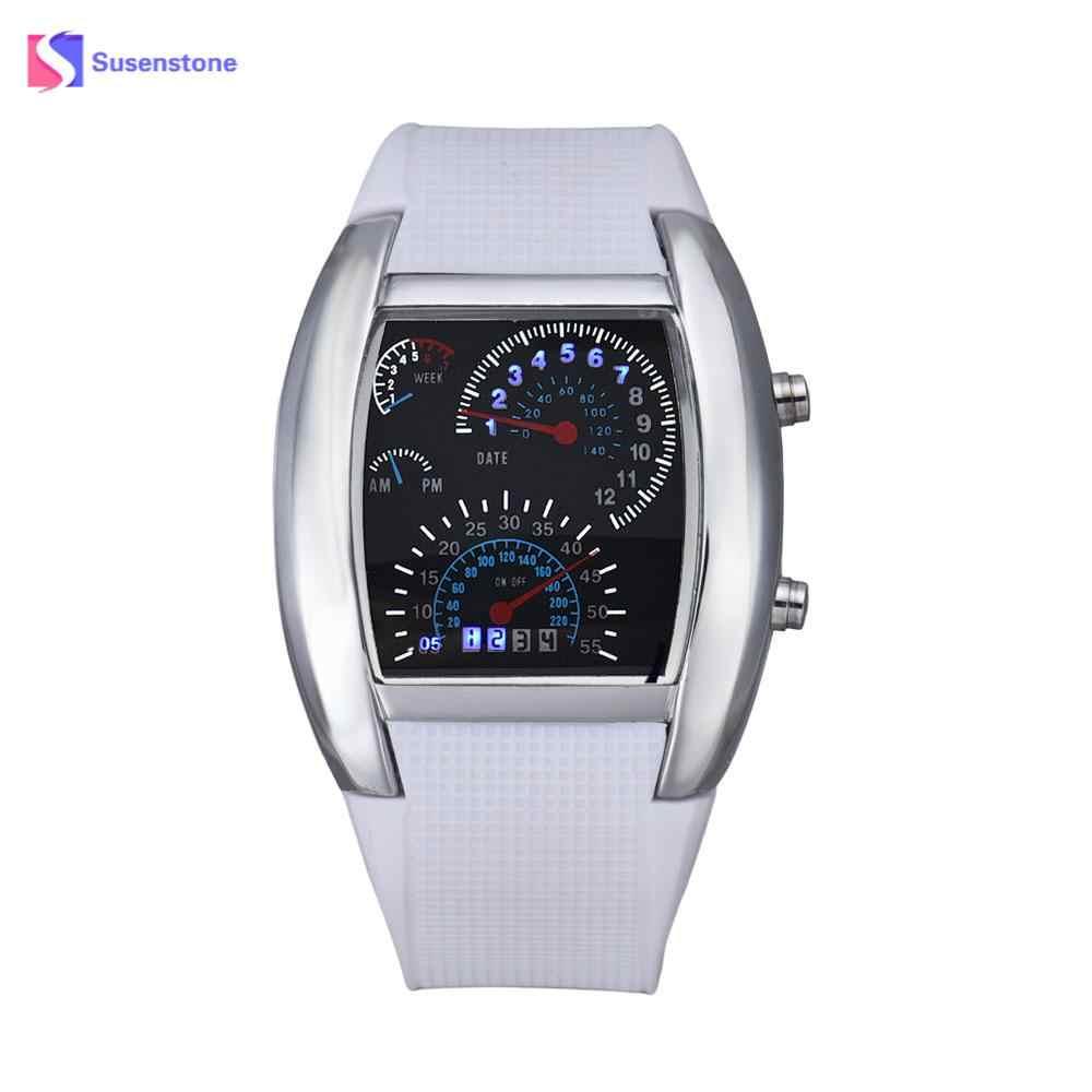 c91d901b3 Fashion Brand Hot Sale Professional 1PC Fashion Aviation Turbo Dial Flash  LED Watch Gift Mens Lady