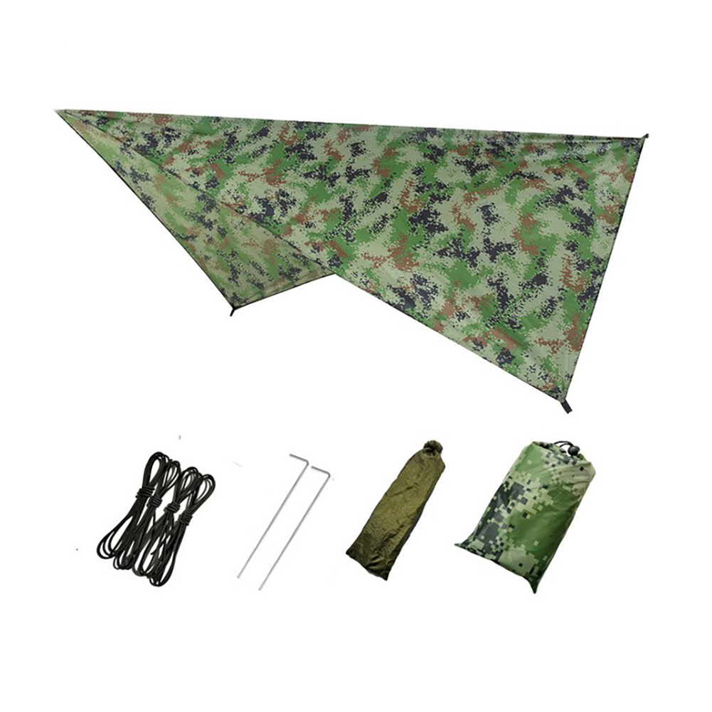 240X140CM 300X300CM Hammock Rain Fly Tent Tarp Waterproof Windproof Snowproof Camping Shelter for Snow Sunshade for Camping