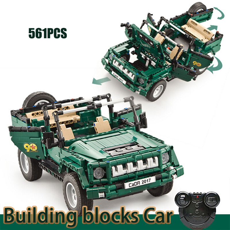Blocs jouet Rc télécommande voiture Jeep camion voiture militaire Parade briques de construction série technique Compatible assemblage d'arme