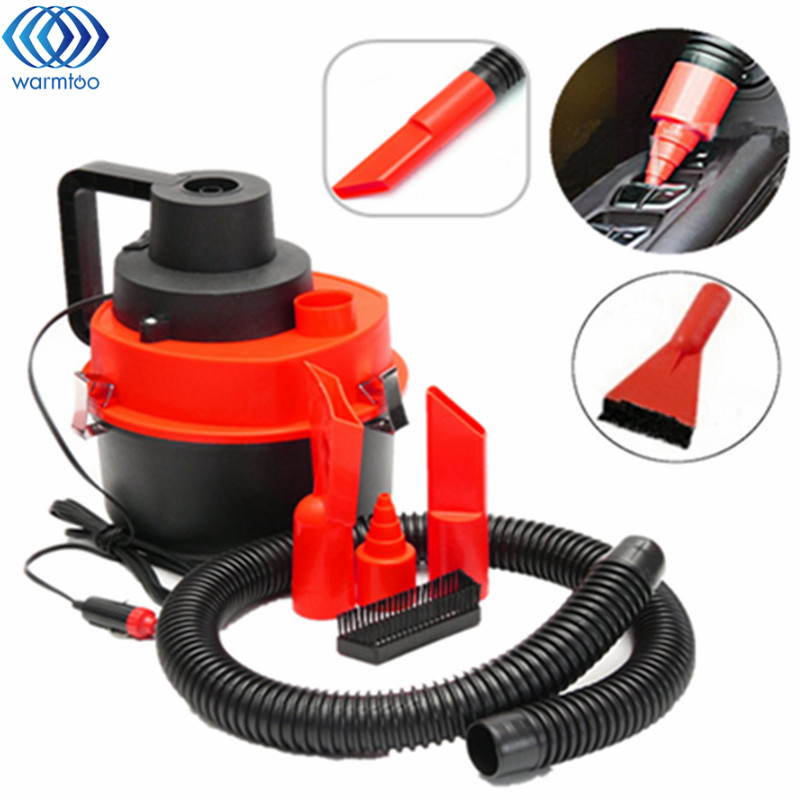 цена на 75w Portable 12V Wet /Dry Vac Vacuum High Power Cleaner Inflator Turbo Hand Held for Car or Shop