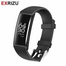 EXRIZU X9 Smart Band Smart Wristband  Fitness Bracelet Health Tracker with OLED Touchpad Monitor Heart Rate Bluetooth 4.0 IP67