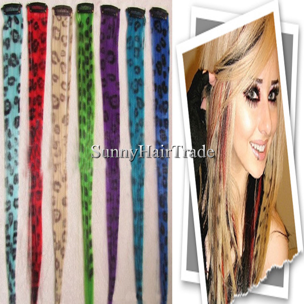 Leopard Print Hot Sales Super Quality Synthetic Clip In Hair