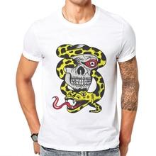 Newest Men T-Shirt Horror Skull Printed Fashion Male T Shirt Short Sleeve Cotton Basic Tee Shirts Mens Cool Tops Poleras Hombre