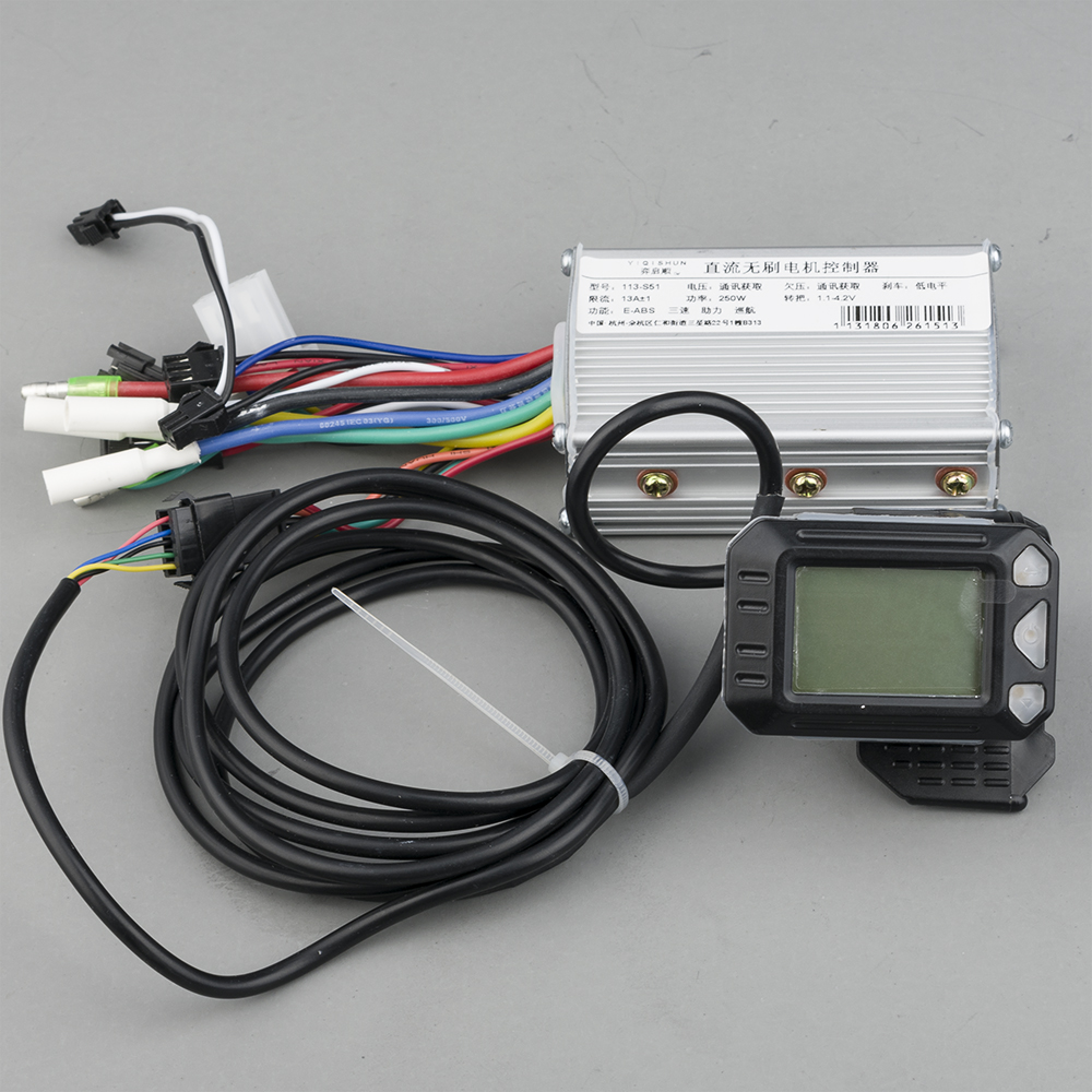 Electric bike accessories 250W 350w 24V 36V 48V DC Mode e scooter Brushless Motor Controller with LCD for ebike