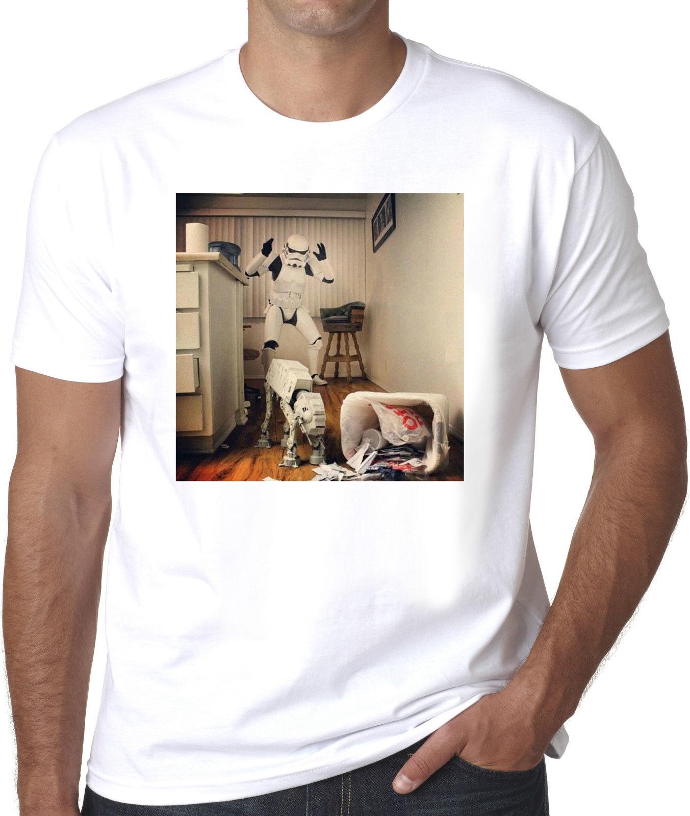 Naughty At-At in bin Stormtrooper sc-fi geek mens 100% Cotton T-shirt Cool Casual pride t shirt men Unisex New Fashion tshirt