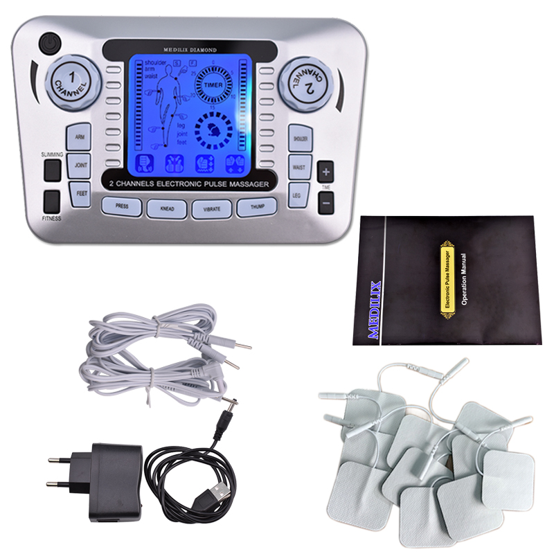 Multifunction Ems Nerve Muscle Stimulator Tens Pulse Acupuncture Low Frequency Physiotherapy Electronic Massager Slimming Tool hwato computer random pulse acupuncture treatment instrument smy 10a nerve and muscle stimulator tens 10 channels output ce appr