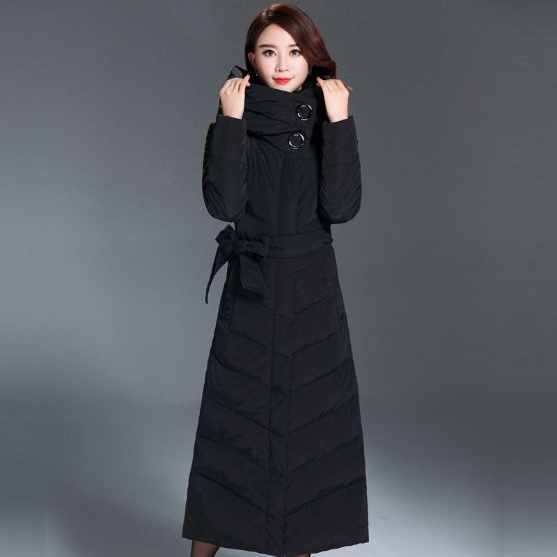 Chaud Wlx484 Le De Slim Long 2019 Confortable Épaisse Capuche Survêtement Manteau Nouvelles Hiver Veste Bas Nouveau Mode black Femmes Vers Khaki Élégant qtW8OH