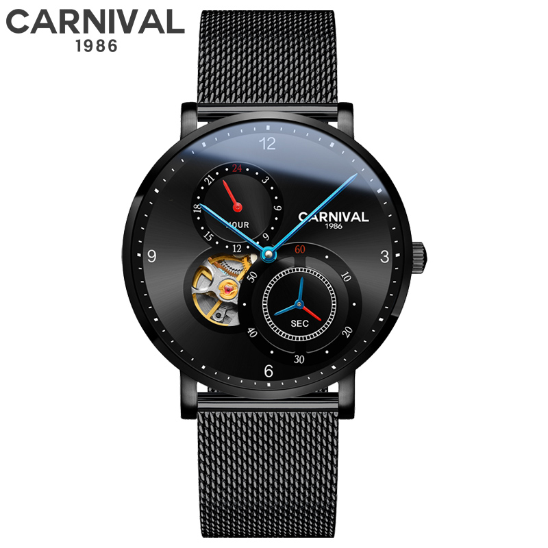 Independently rotating small seconds hand Luxury Mechanical Watch Men Automatic Skeleton Clock Waterproof Watches Switzerland