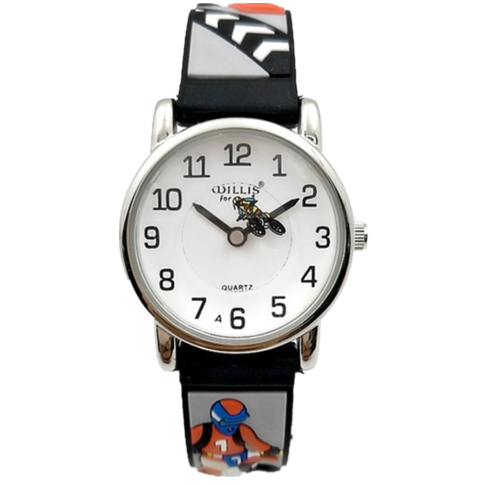 WILLIS Fashion child Waterproof 3D Motorcycle Cartoon Design Analog Wrist Watch Children Clock kid Quartz Wrist Watch PENGNATATE