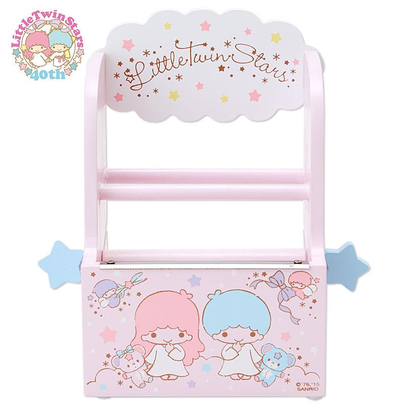 New Little Twin Stars Wooden Box Japanese Stationery Masking Tape dispenser cutter school office supplies dolls accessory