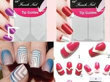 1 шт. ногти наклейка ногтей французский маникюр форма бахрома советы руководство DIY стилизация красоты инструменты
