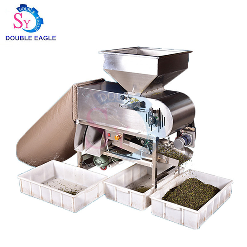 SY-CS36 commercial stainless steel automatic grain cleaning-optioning machine/green tea fan duster/small cereal grain separator