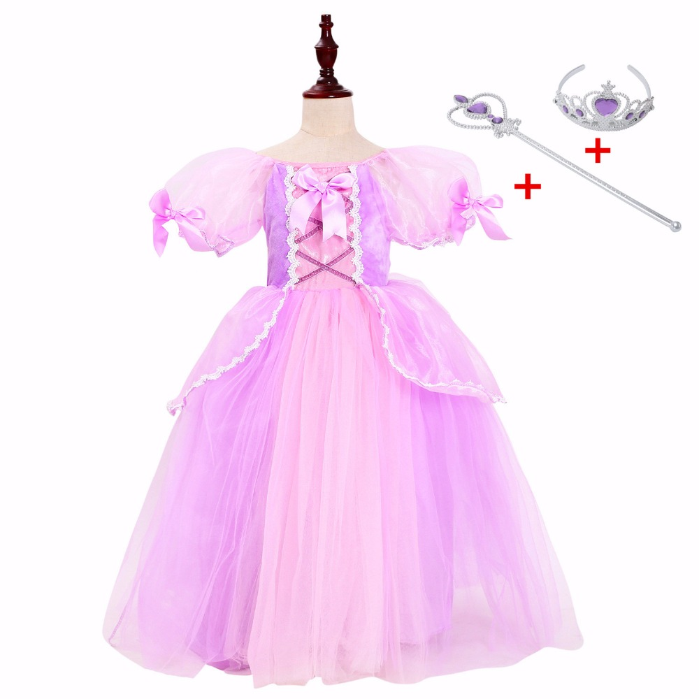 2018 NEW Style Sofie Princess Summer Dress Girls Sofia Cosplay Costume 6 Layers Children Kids Floral Halloween Party Tutu Dress