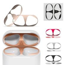 חם 1 סט Ultra דק עור מגן כיסוי מתכת סרט מדבקת ברזל שבבי אבק משמר עבור AirPods Airpod/Airpods פרו