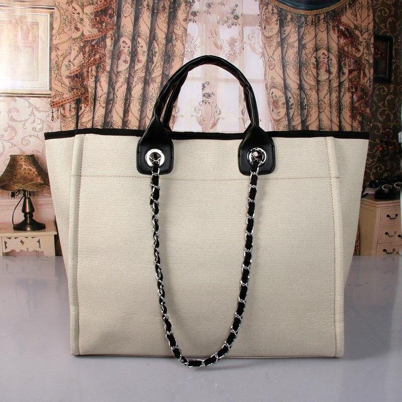 Femmes grande capacité fourre-tout toile sac à bandoulière sac à provisions sacs de plage fourre-tout décontracté Feminina