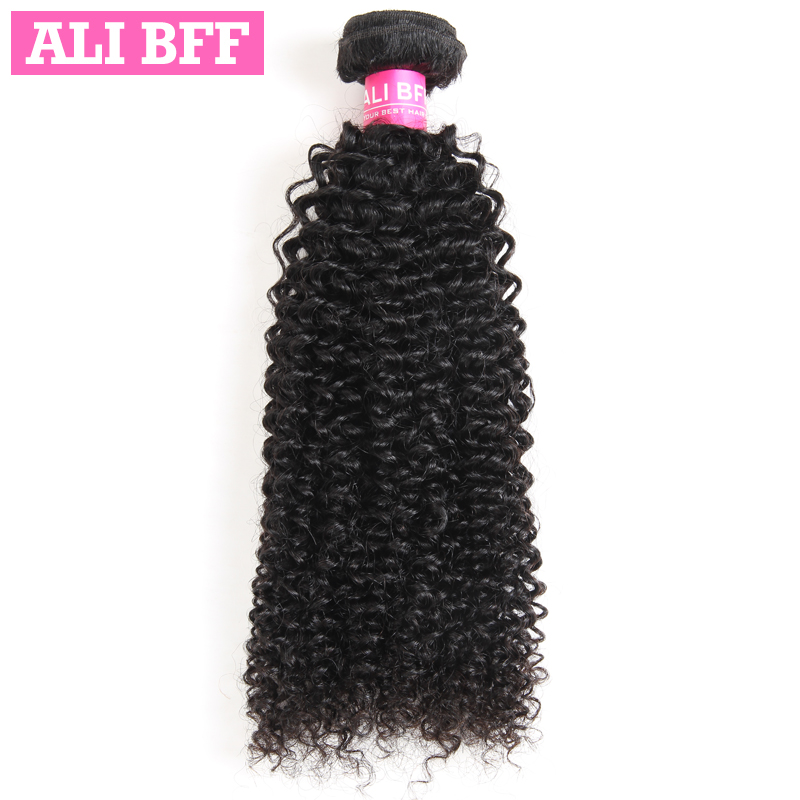 ALI BFF Brazilian Kinky Curly Hair Bundles Remy Hair Weave Bundles Human Hair Extensions Can Mix Length Free Shipping