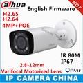 Dahua h2.65 ipc-hfw4431r-z 2.8mm ~ 12mm varifocal lente motorizado de red cámara de $ number mp ir 80 m cámara ip poe cctv cámara