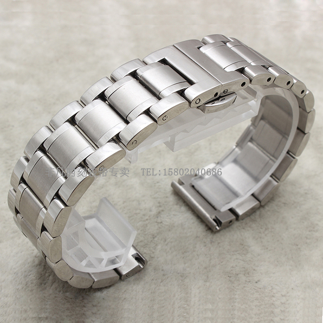 Substituição Pulseira straps Relógios homem 14mm 16mm 18mm 19mm 20mm 21mm de Aço Inoxidável sólido ligação Relógio de pulseira acessórios
