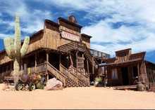 Bar salão Old Wild West Cowboy Cidade Do Deserto Vinil pano de fundo pano de Fundo festa de Alta qualidade de impressão Computador