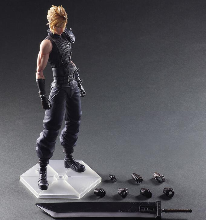 Final Fantasy Play Arts Kai Cloud Strife 2nd Anime Collection Model Toy Action Figure 270MM Final Fantasy Playarts Kai Doll Gift