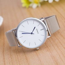 купить Women watches Relogio Feminino New Famous Brand watch women Casual Quartz Watches Metal Mesh Stainless Steel Watch relojes по цене 93.79 рублей