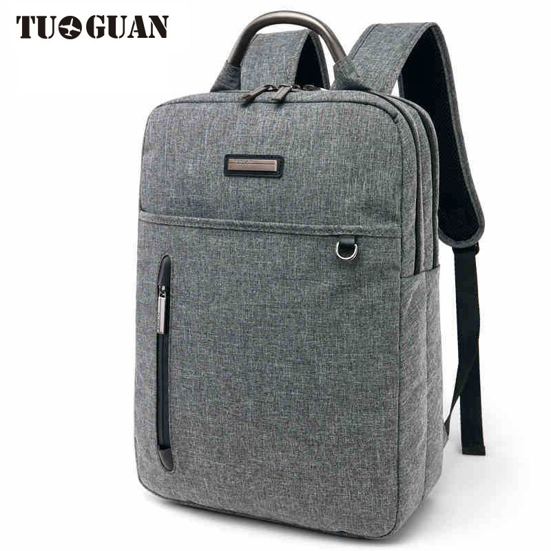 TUGUAN Laptop Backpack Business Men Casual Backpack Waterproof Fashion Travel Bag compact fashion waterproof men backpack